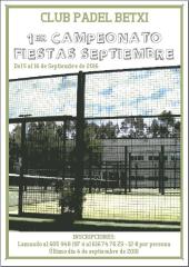 I TORNEO FESTES DE SEPTEMBRE BETXI